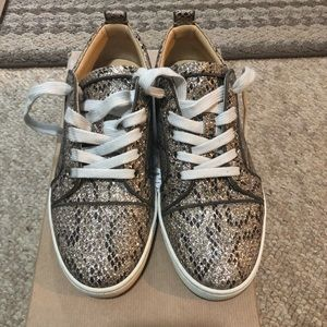 Authentic Christian Louboutin Glitter Sneakers